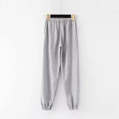 Casual Elastic Waist Sports Pants NSHS46606