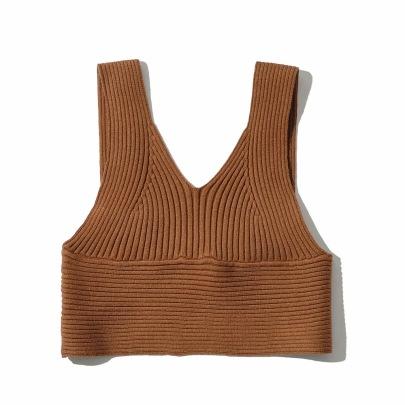 Sexy V-neck Knitted Suspender Short Vest   NSHS46743
