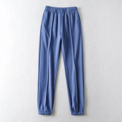 Elastic Waist Pleated Sweatpants  NSHS46870
