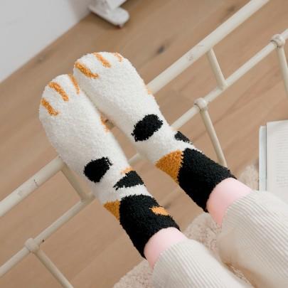 Plus Velvet Thick Warm Cartoon Socks  NSFN40127