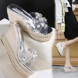 Thick Bottom Waterproof Platform Rhinestone Fashion Sandals  NSHU40391