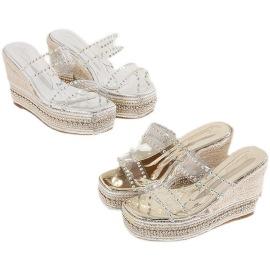 Summer New High-heeled Beach Slippers NSHU40405