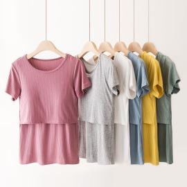 Fashion Short-sleeved Nursing T-shirt NSXY47369