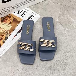 Chain Decor Square Toe Sandals NSPE48972