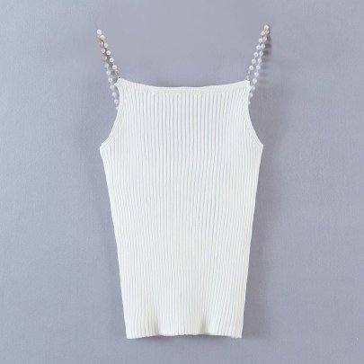 Pearl Sling Simple Knitted Vest NSAM49143