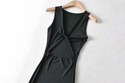 New V-neck Sexy Summer Hollow Dress NSHS49221