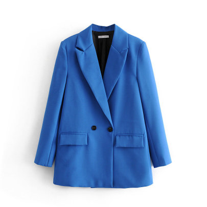 Simple Loose Double-breasted Blazer NSAM49756