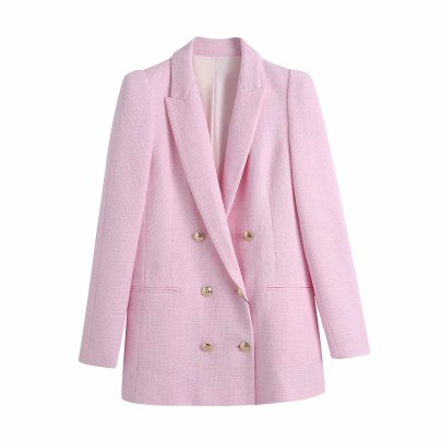 Spring Breasted Texture Jacket NSAM50479