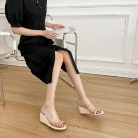 Fashion Clear Wedge Sandals NSHU51593