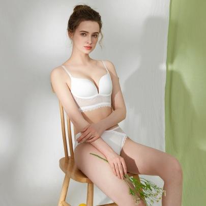 U-shaped Backless No Steel Ring Underwear Suit NSXQ51786
