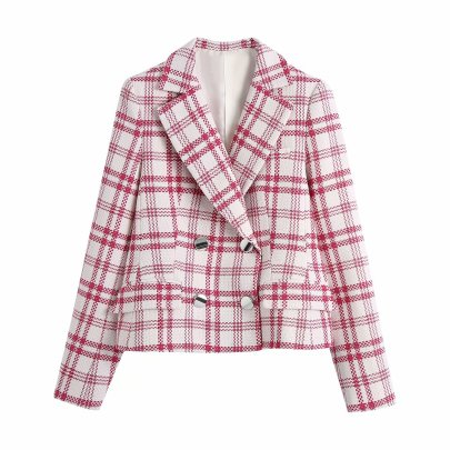 Wholesale Spring Plaid Texture New Fashion Blazer NSAM52393