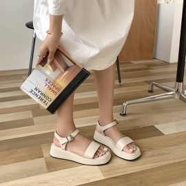 Summer  Fashion Thick-soled Round Toe Wedge Sandals NSHU52547