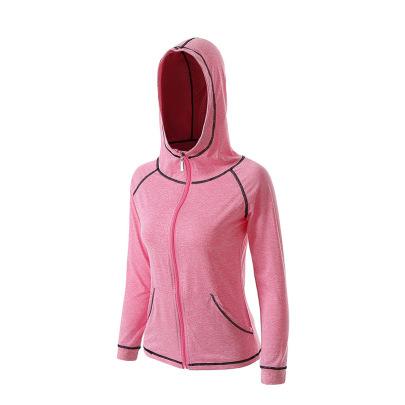 Long Sleeves Zipper Splicing Contrast Color Hood Sports Jackets  NSCXM53116