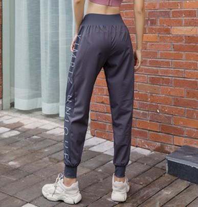 New Sports Loose Running Fitness Printed Thin High-waist Yoga Pants NSFAN53439