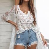 Fashion Chiffon Lace Embroided Cami Top NSMY53525