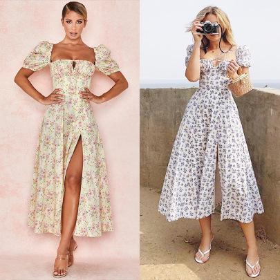 Hot-selling New Printed Floral Halter Slim Sling Dress  NSHHF53625