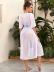 Vacation style beach bikini swimsuit blouse NSLUT53943