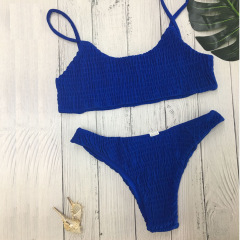 sexy traje de baño de bikini triangular de color sólido NSLUT53904