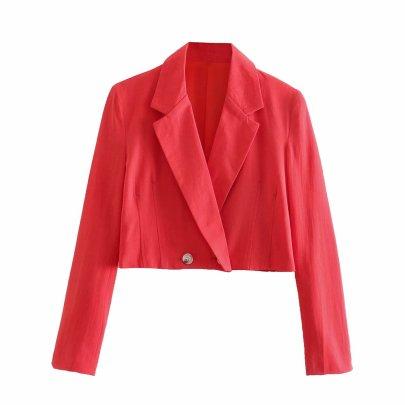 Wholesale New Linen Short Suit Jacket  NSAM54299