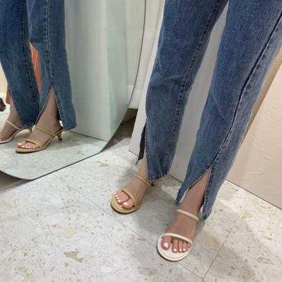 Summer Plain Color Slingback Heeled Sandals NSHU54475