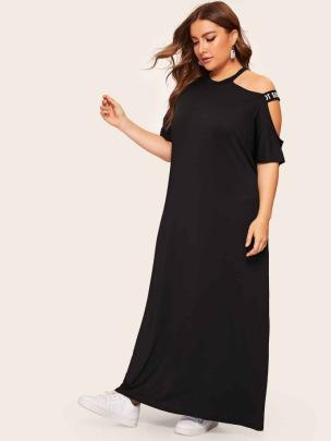 Summer Plus Size Short-sleeved Dress NSCX48188