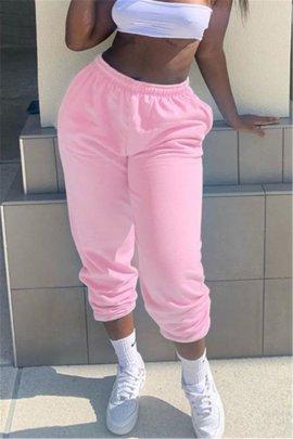 Solid Color Casual Sports Pants  NSXZY48541