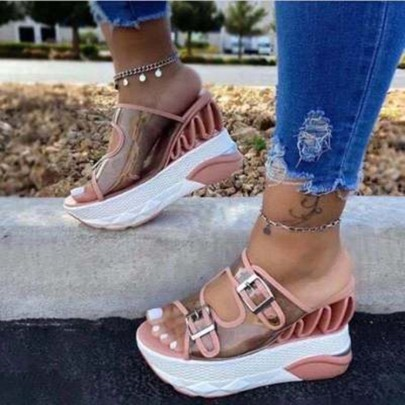 Fashion Thick Bottom Casual Sandals NSPE55981