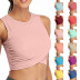 spring and summer new solid color sports yoga casual vest  NSYIS56096