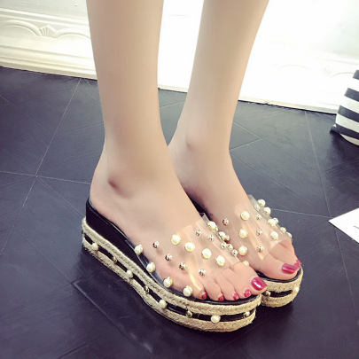 Spring New Thick-soled Wedge-heel Slippers NSZSC56115