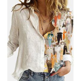 Shirt New Printing Long-sleeved Shirt NSJIM56378