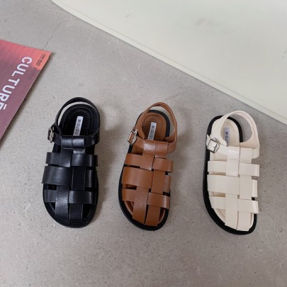 New Summer Flat Casual Thick Bottom Toe Sandals NSHU57027