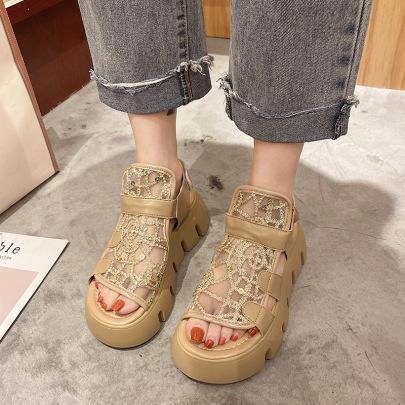 Summer Rhinestone Roman Sandals NSZSC57546