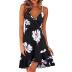 new printed V-neck strap dress  NSYIS58360