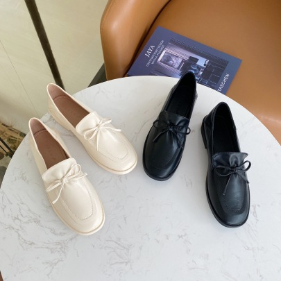 Flat-bottomed Loafers Spring And Autumn New Simple Soft Leather Shoes NSHU58253