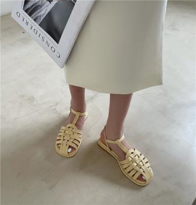 New Summer Flat Woven Buckle Sandals NSHU58519