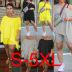 fashion oblique shoulder irregular slim pants two-piece set NSWNY58558