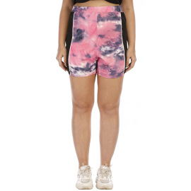 Casual Irregular Tie-dye Printing Contrast Stitching Comfortable Shorts NSOY59407
