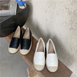 Nuevos Zapatos Casuales De Fondo Plano Con Bordado De Paja Nueva Primavera Y Otoño NSHU59502