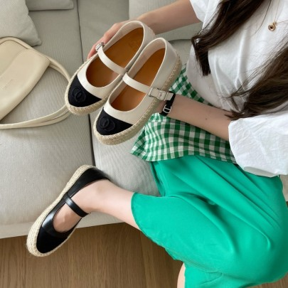 New Mary Jane Fashion Casual Hemp Rope Platform Loafers Shoes NSHU59842