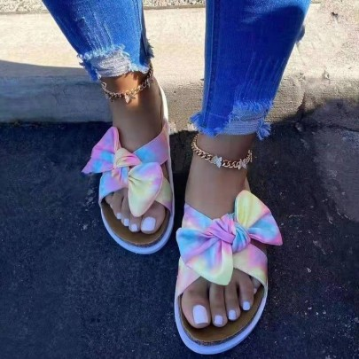 Outer Wear Summer New Fashion Bow Flat Sandals NSPE54654