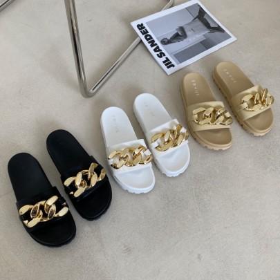Summer Wear New Fashion Metal Chain Sandals NSHU54683