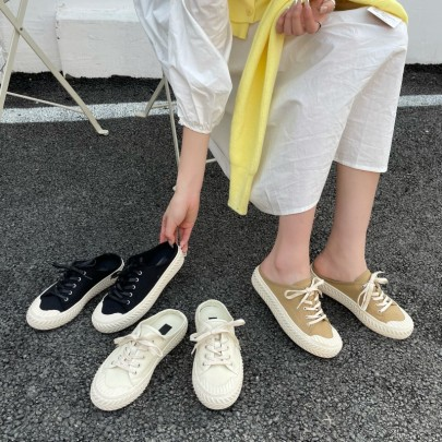 Semi-trailer Canvas Summer New Fashion Breathable White Shoes NSHU54686