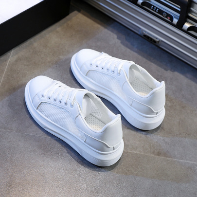 Small White Summer Mesh New Style Sports Platform Shoes NSNL54719