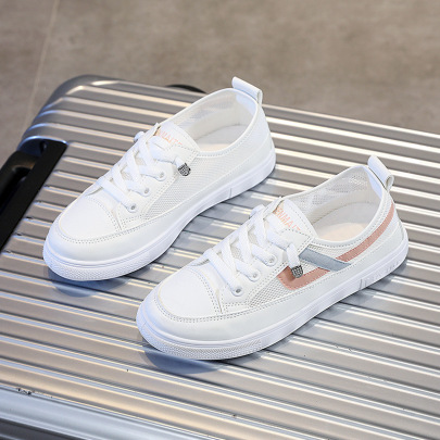 Small White Summer New Flat-bottom All-match Shoes  NSNL54720