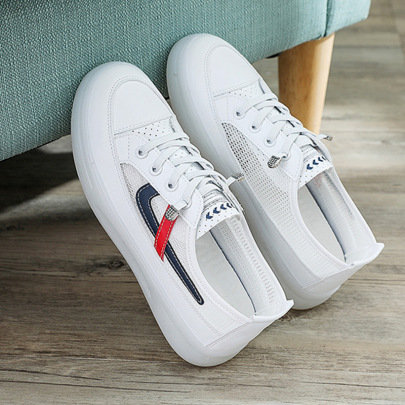 Breathable White Summer Thin Mesh Hollow Sneakers NSNL54722