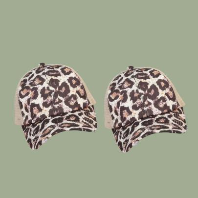 Trendy Leopard Print Cap NSTQ55488