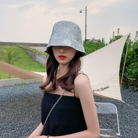 Summer Solid Color Glitter Sequined Bucket Hat NSCM55542
