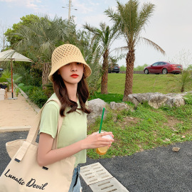 Summer Fashion Dome Hollow Basin Hat  NSCM55543