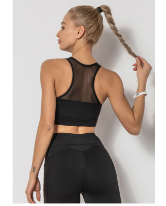 Mesh Stitching Quick-drying Beautiful Back Sports Vest NSLUT60159