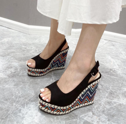 New Style Slope With Platform Sandals NSSO62179